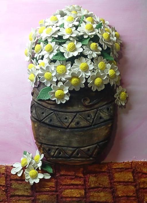 Margaritas, porcelana fría, Maria del C. Santamaria, Boquete