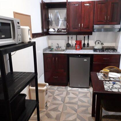 Aparthotel Boquete: la cocina con desayunador